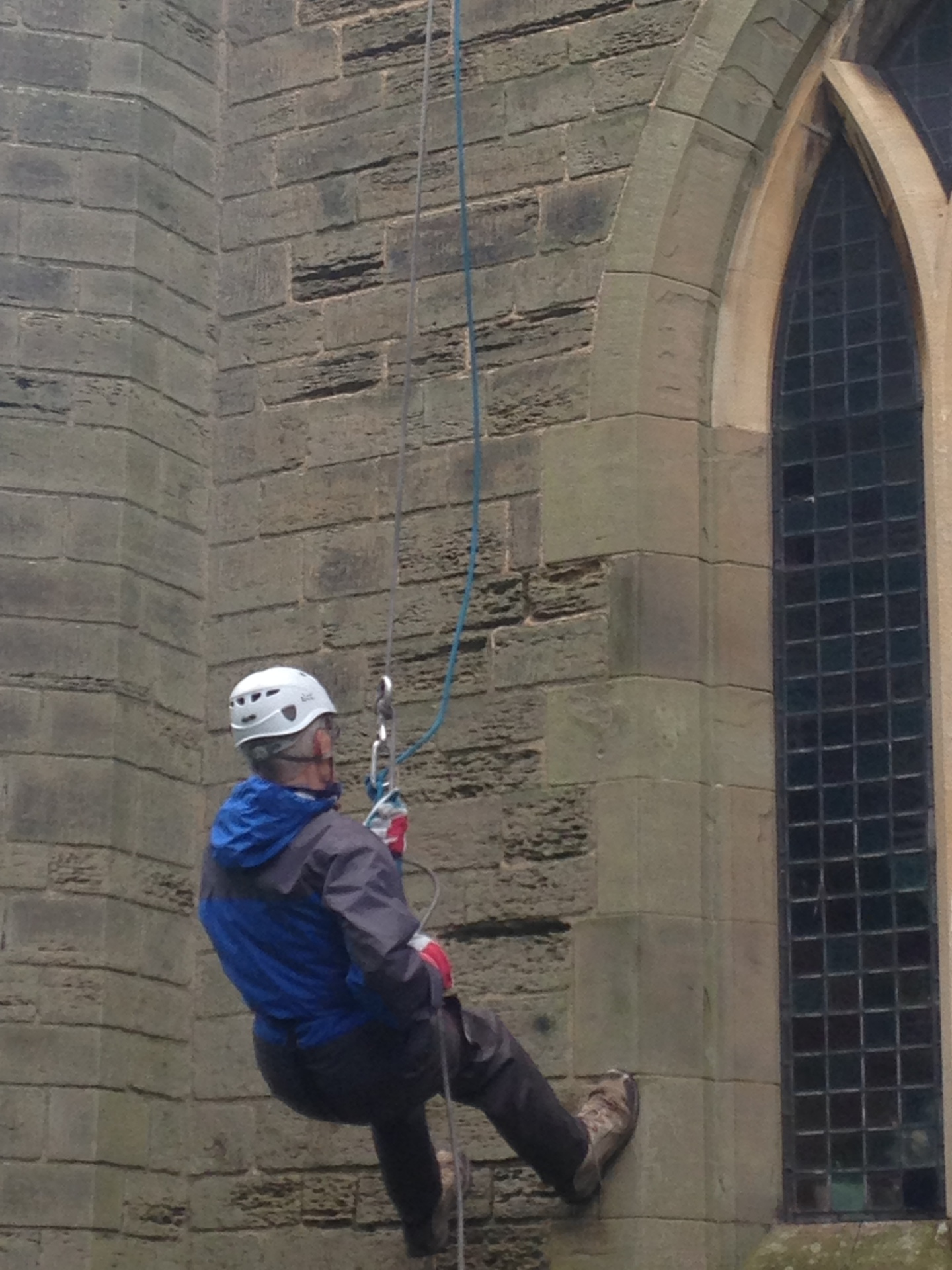 Mike and Mina Abseil for Diabetes Uk