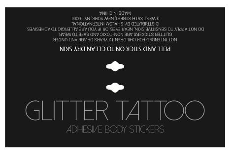 Glitter Tattoo Foldover Card