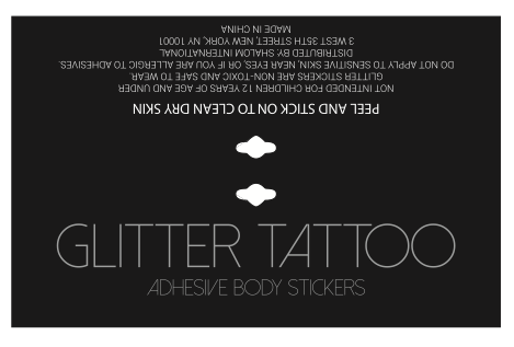 Glitter Tattoo Foldover Card