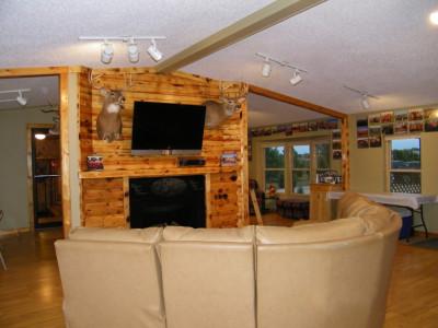 Fireplace & TV in communiity room