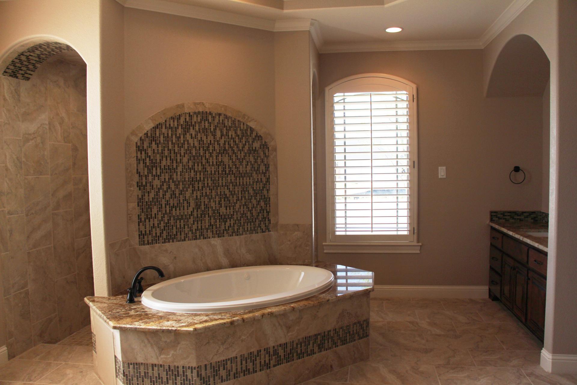 Master Bathroom with large jacuzzi tub