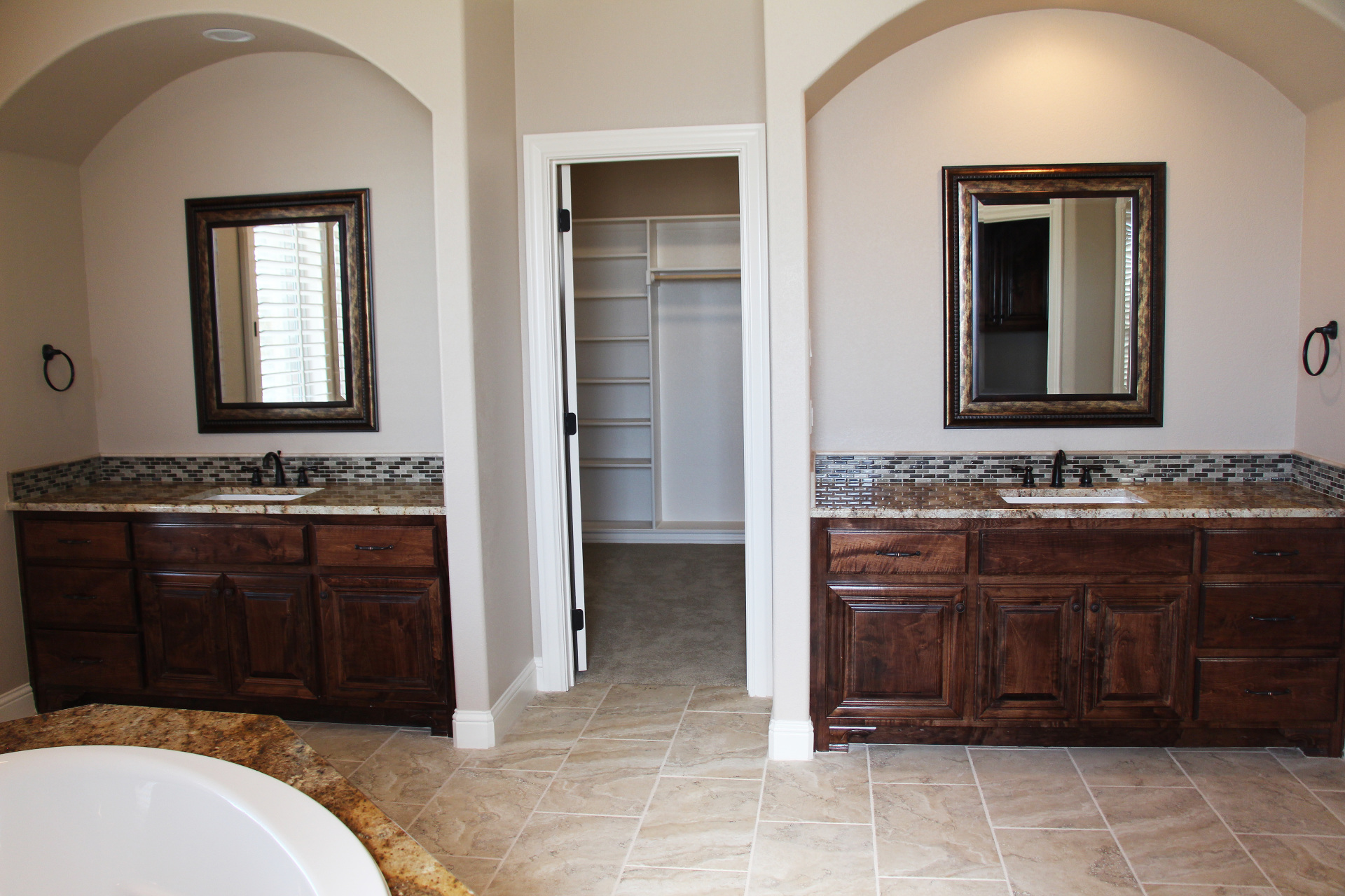 Master Bath His and Hers sinks