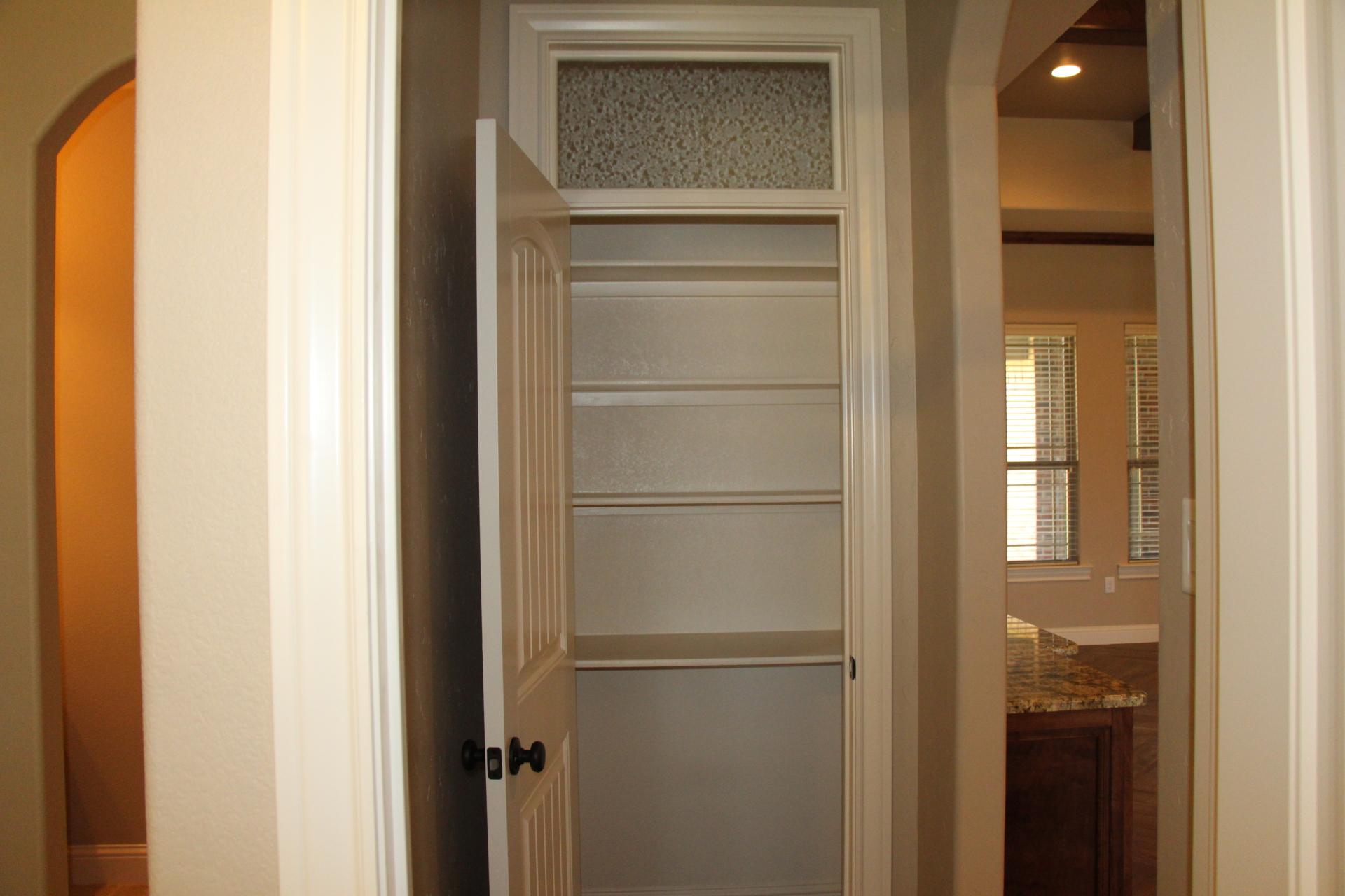 Storage Closet in hallway