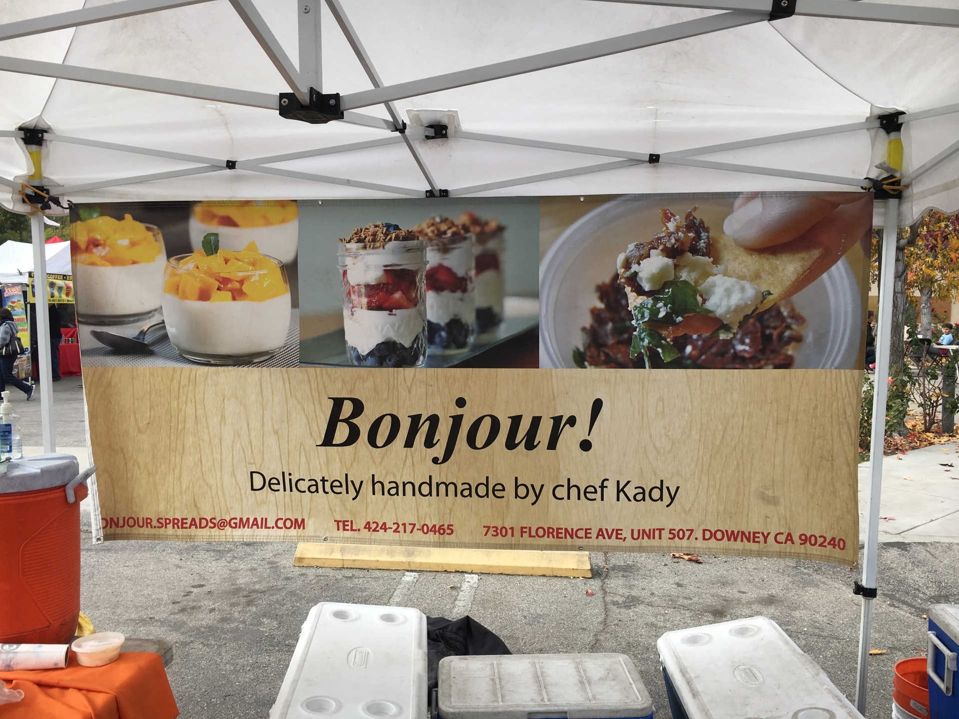 Bounjour!  French Yogurt Vendor