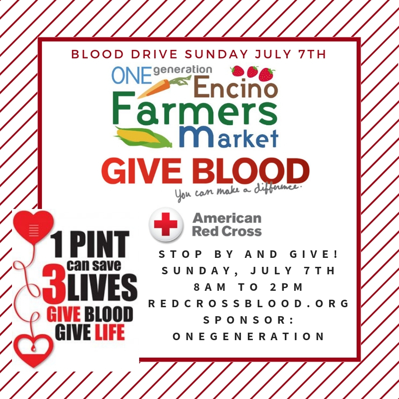 Blood Drive Sunday July 7, 2019