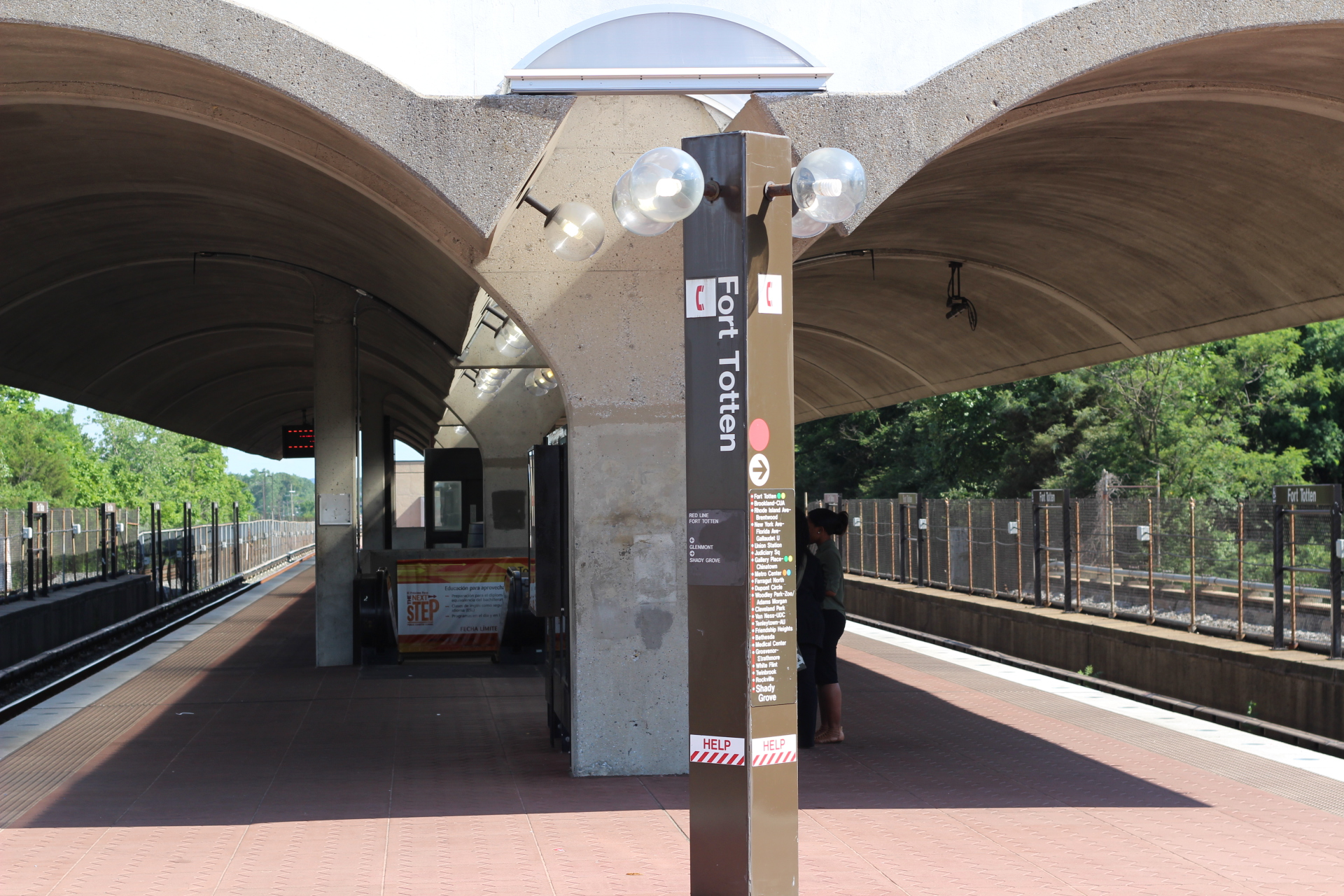 Neighborhood metro station (Fort Totten)