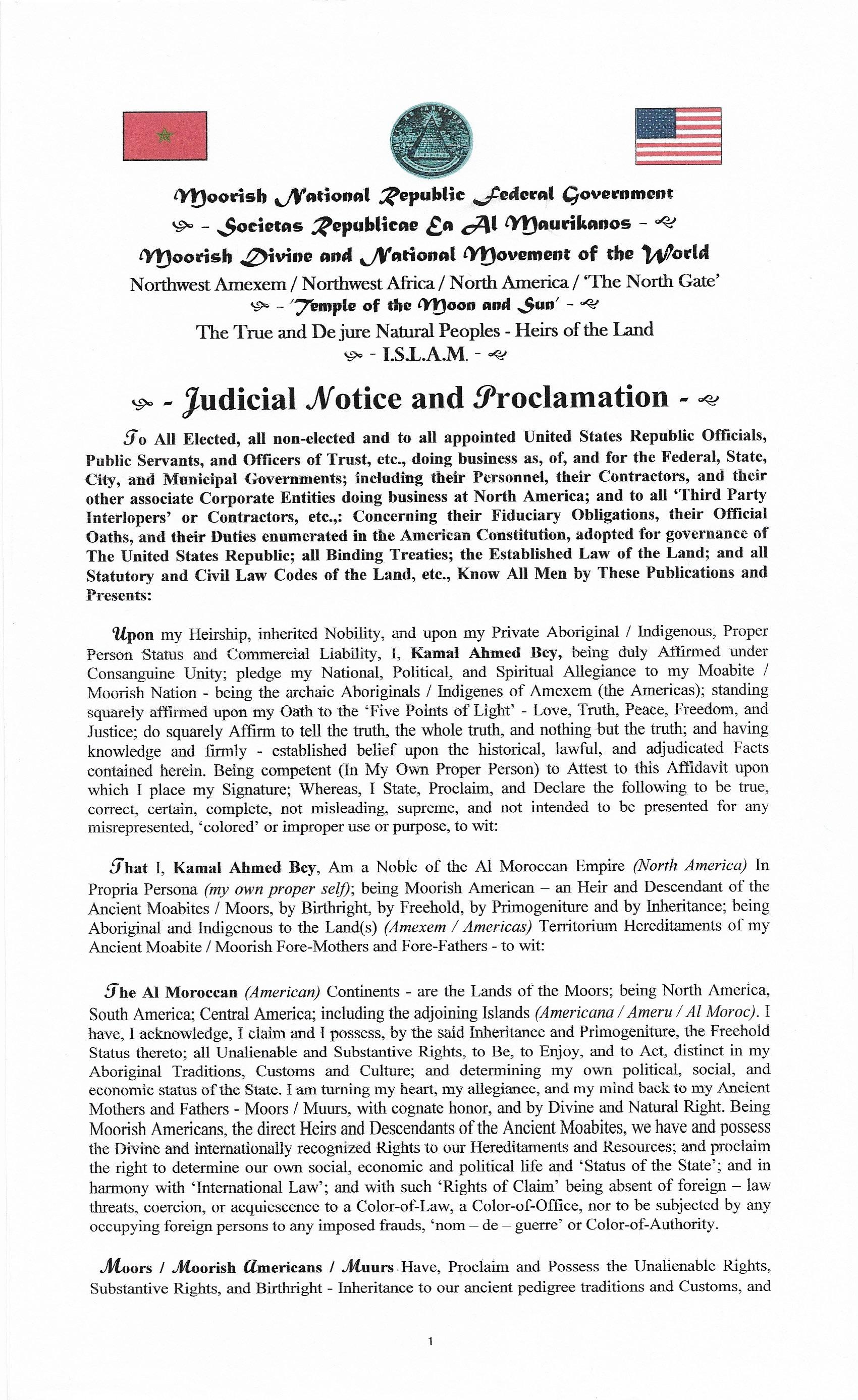 Public Notices & Filings of Consular Court