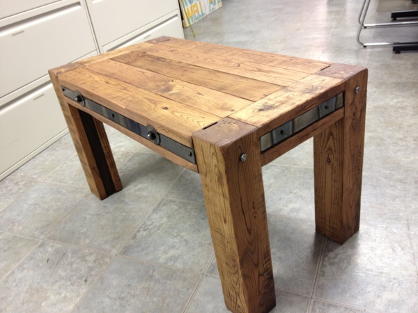 Reclamied Wood and Metal Coffee Table