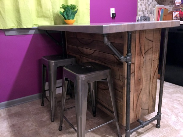 Reclamed Wood Custom Kitchen Island