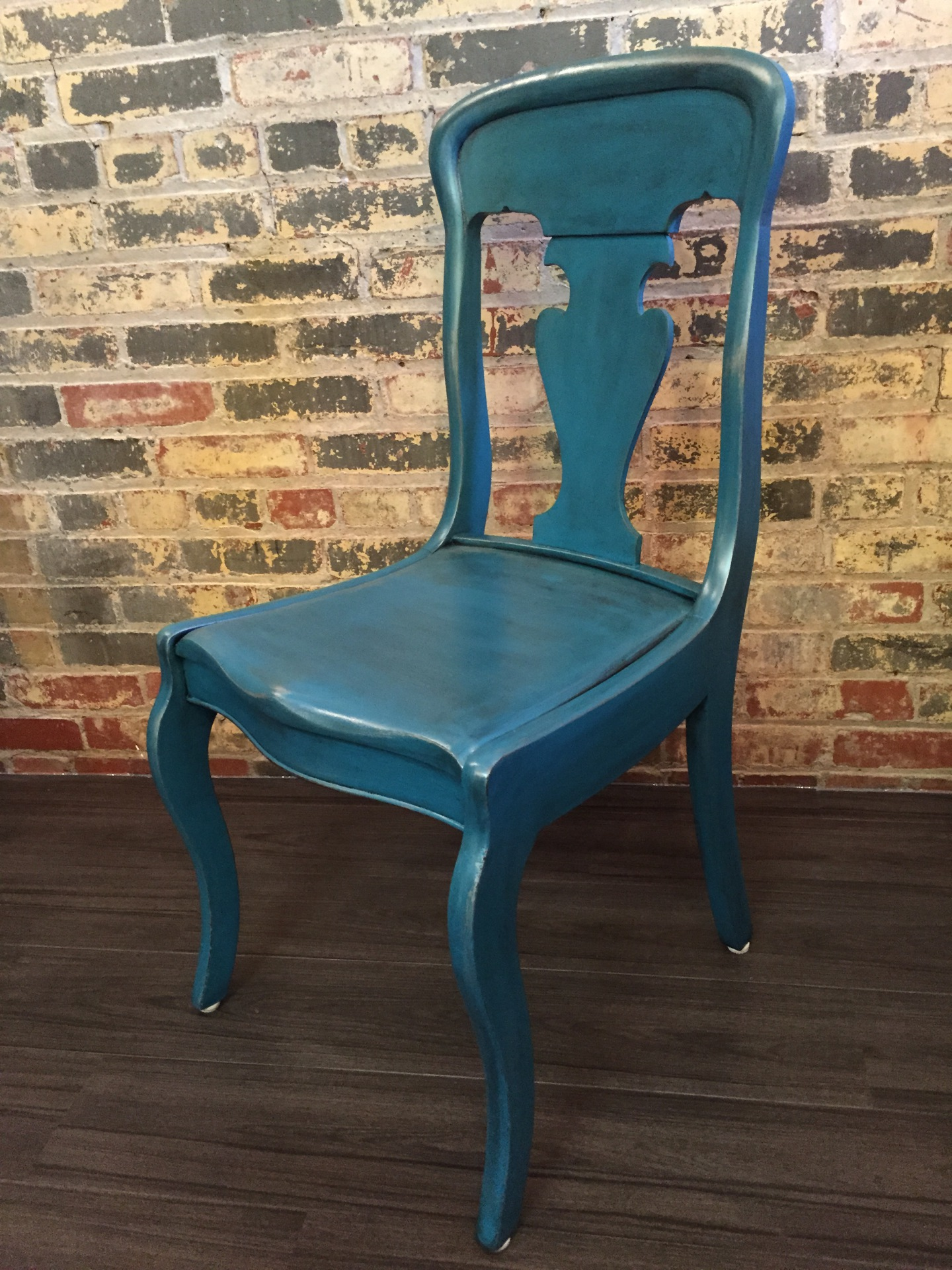 Custom Refinished Wood Chair
