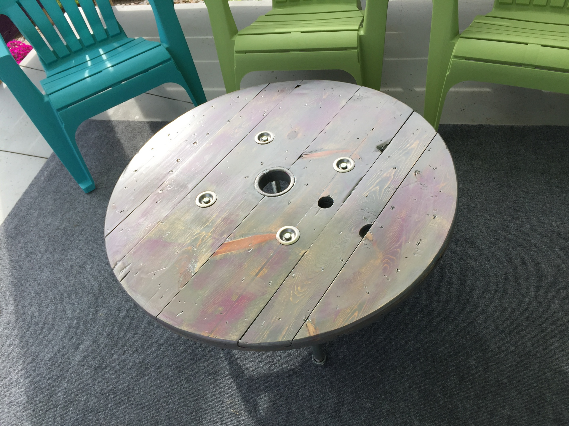 Reclaimed Spool Table
