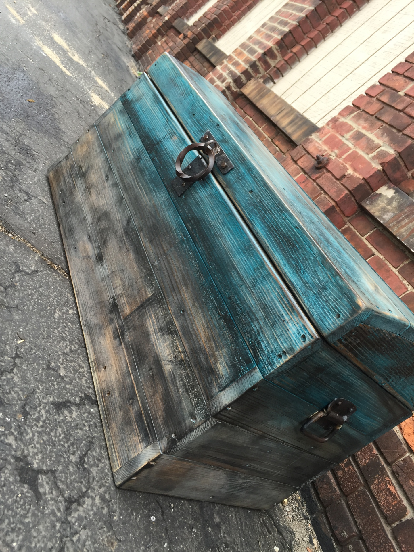 Reclaimed Wood and Metal Chest