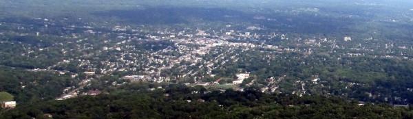 Aerial view of Plainfield, NJ attribution