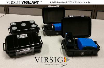 The Virsig VIGILANT, a self-sustained cellular / GPS tracker.