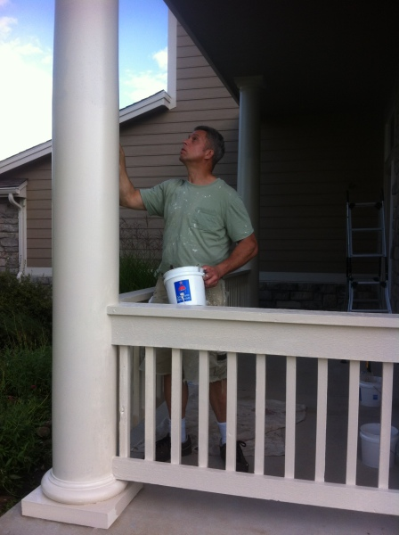 Painting a column