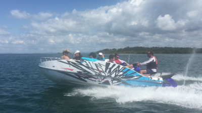 How fast does the Jet Ski Boat go?