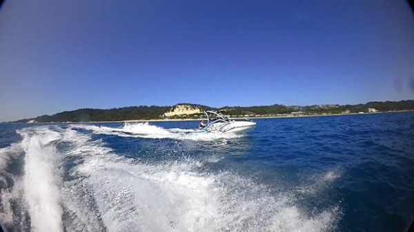 Jet Ski Boat towing a tube!