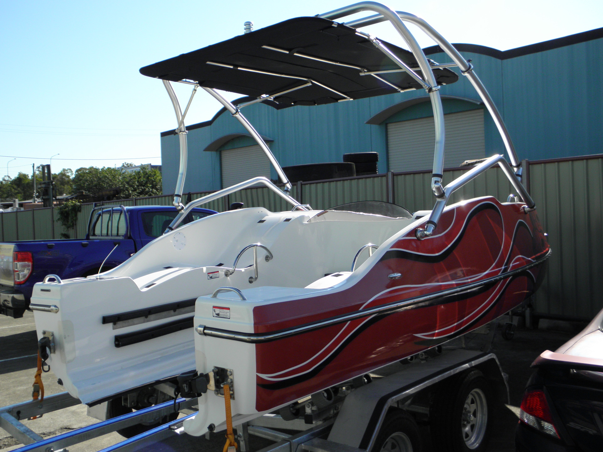 Jet Ski Boat wake board tower and Bimini