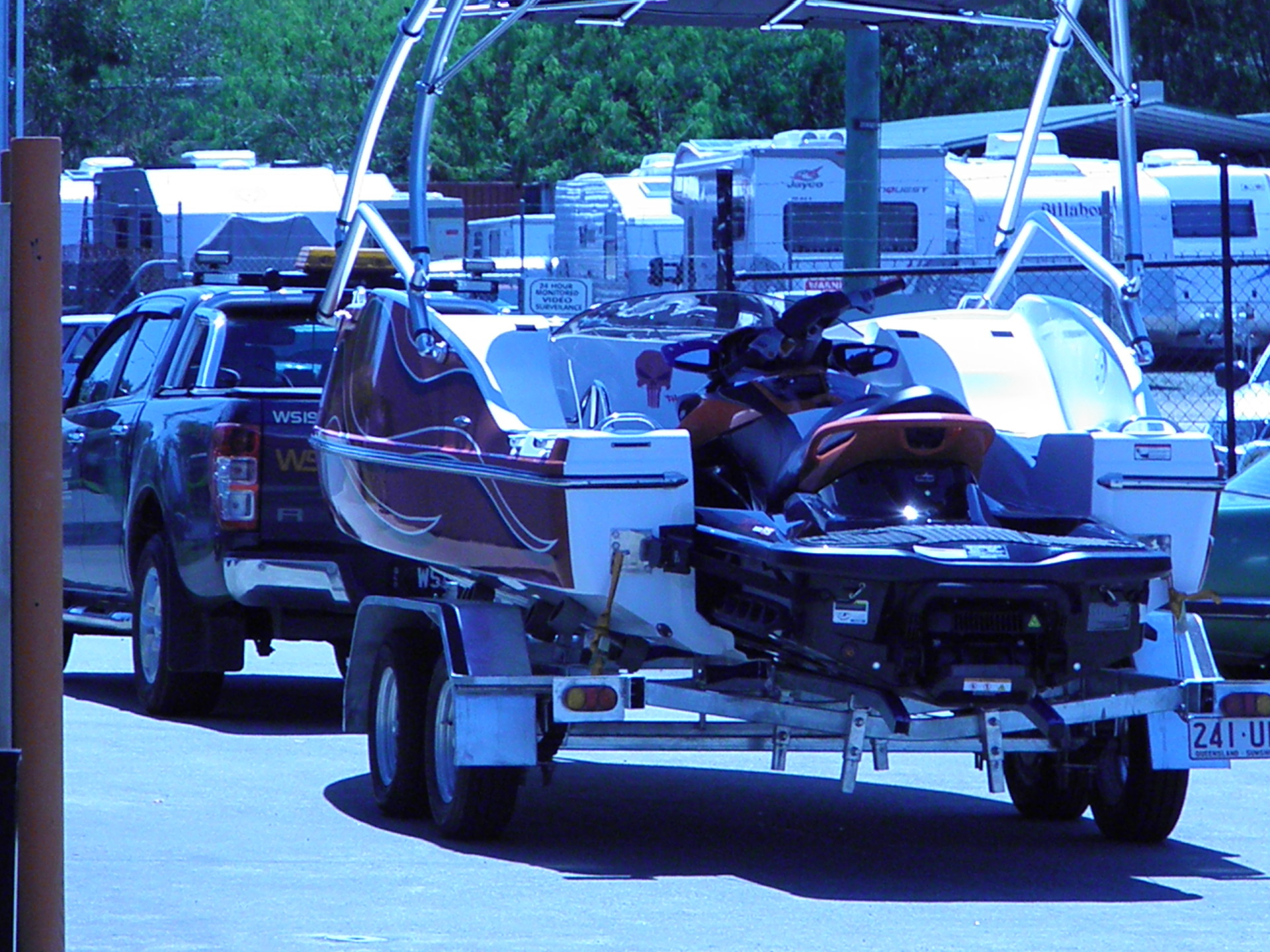 What Jetski`s fit into the 2Ezy Jet Ski Boat?