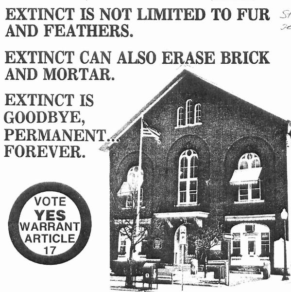 Save Town Hall - 1980s