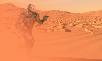 Running from the storm on Mars