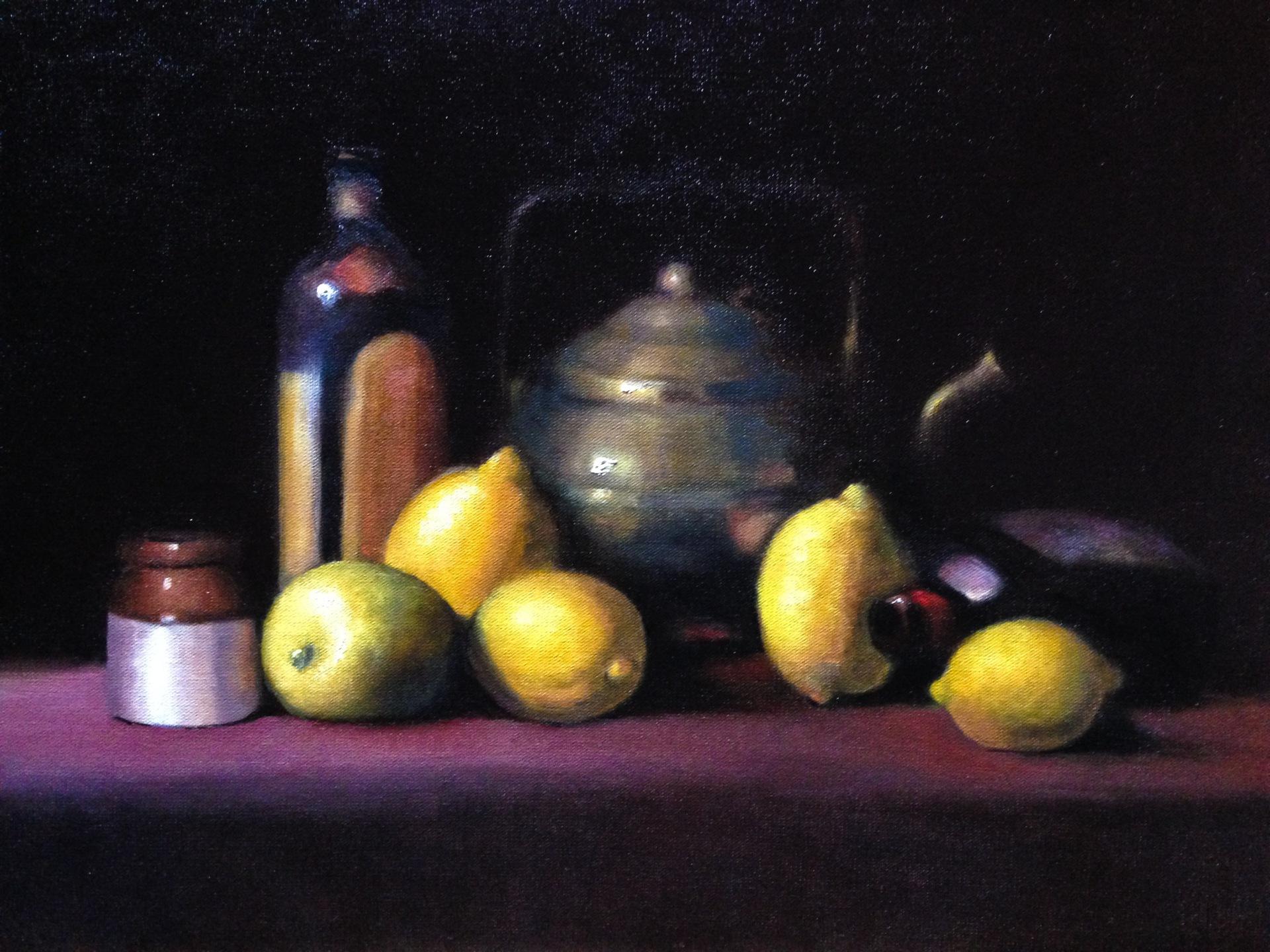 Lemons and bottles