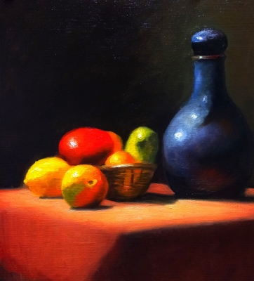 Fruit and blue