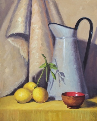 """French Jug and Lemons"""