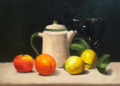 """Cream Kettle and Fruit"""