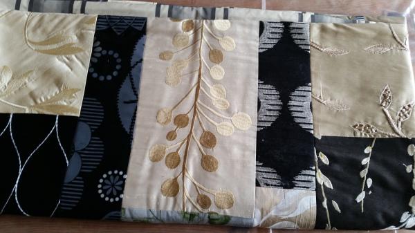 Silk patchwork quilt