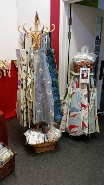 Apron display at Milford Artisans' Fair
