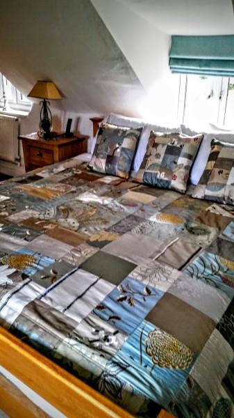 Special order silk patchwork quilt