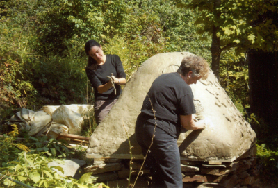 Eva, Pat and Paul   photo by Jane
