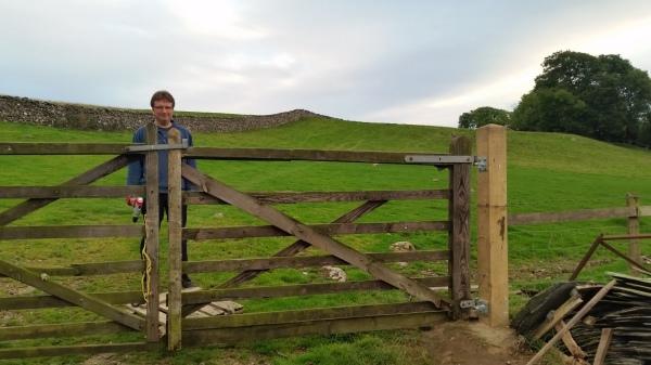 New gatepost