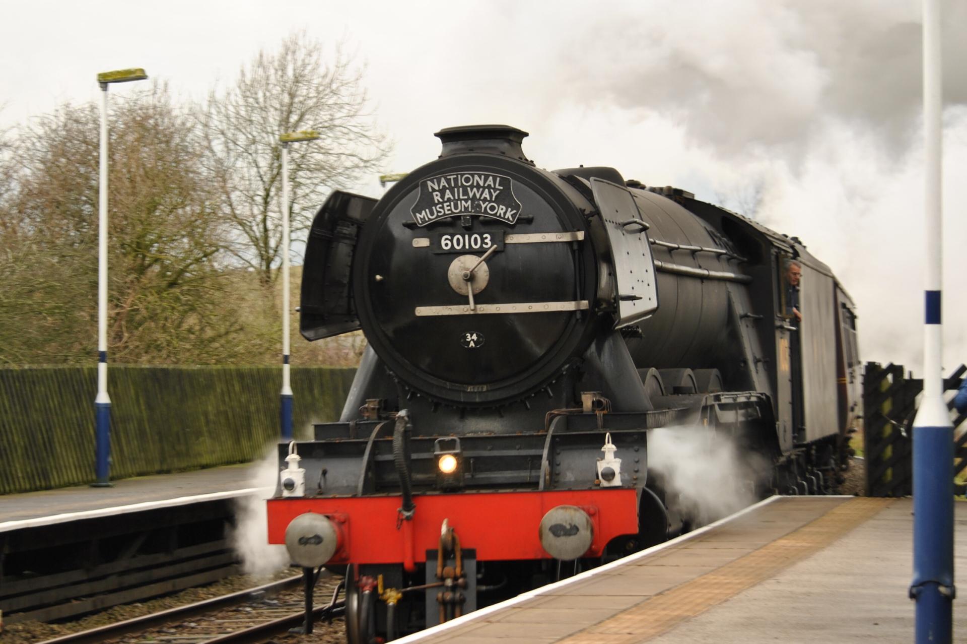 Flying scotsman, steam train, settle