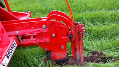 Where we can, a mole plough is used