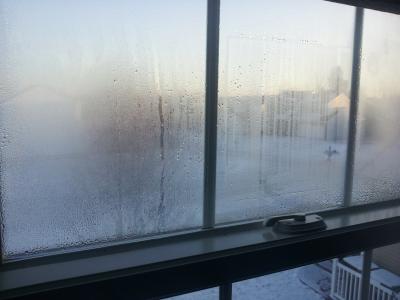 Condensation on UPVC Window
