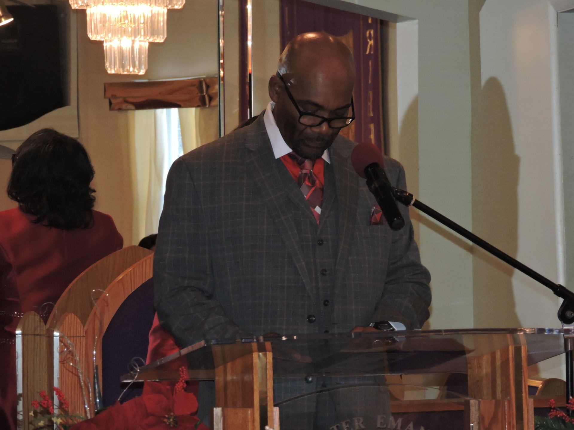 Deacon Alonzo Reading Scripture