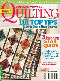 Quilt by Lanie Tiffenbach Featured on the Magazine Cover