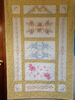 Quilt Maded From Embroidered Pillowcases