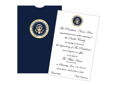 Personalized Presidential  Invitations