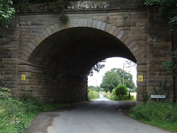 Pottery Lane entrance into Littlethorpe