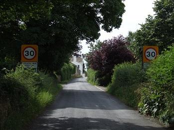 Littlethorpe Road entrance into Littlethorpe
