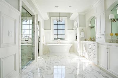 WHY WHITE CABINETS AND WHITE CARRERA MARBLE HAS BUYERS AT HELLO