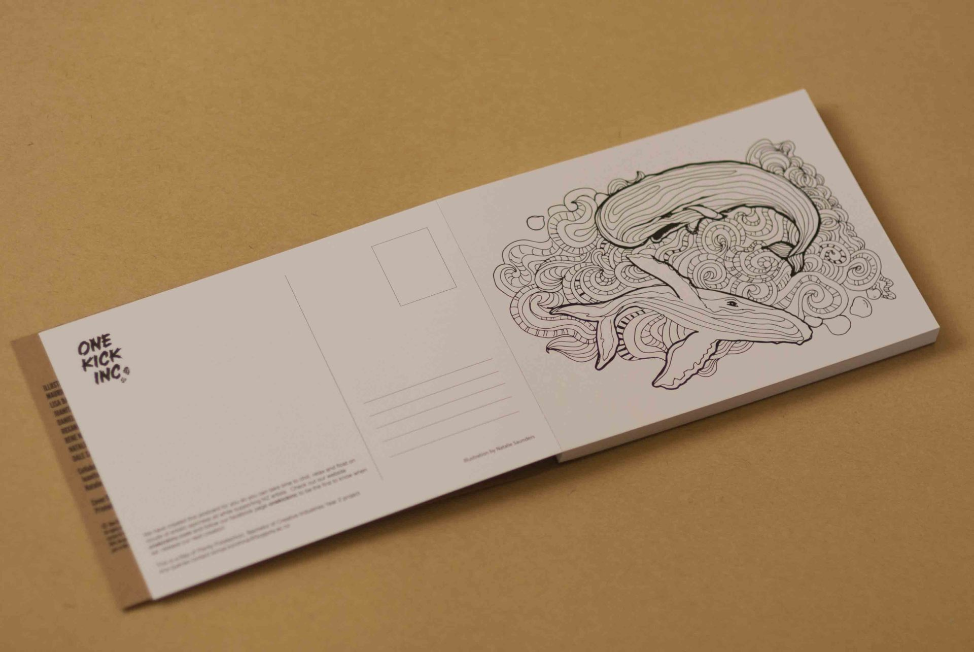 illustration, whale, colouring-in, book