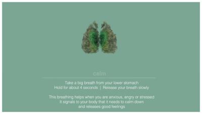 calm breathing technique