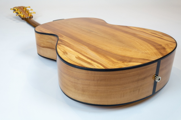 English Spalted Apple back and sides with bog oak binding