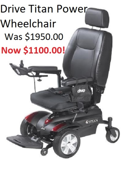 Drive Titan Power Wheelchair
