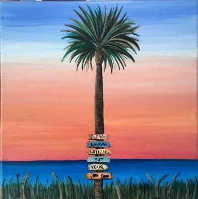 Small Sunset Palm