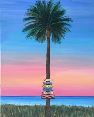 Large Sunset Palm